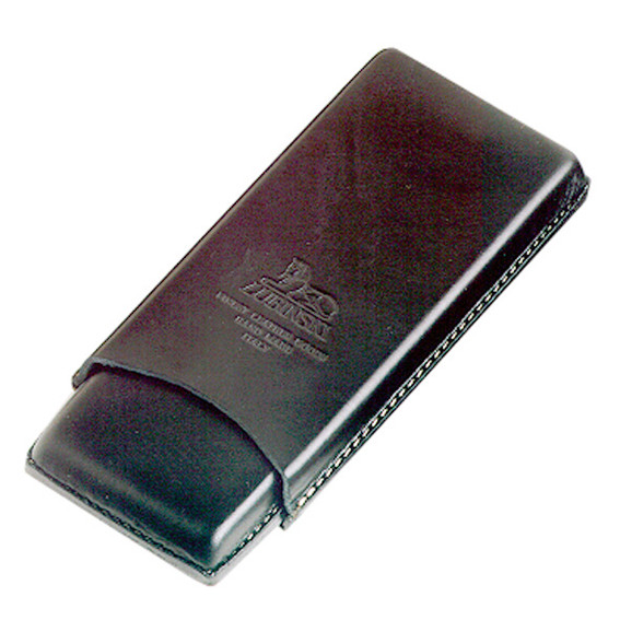 Zigarrenetui, für 3Stk., 180 mm, Leder