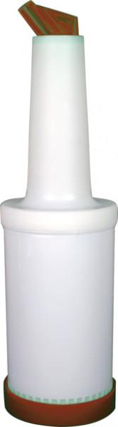 Pour Master 0,95l Flasche komplett, Poly braun