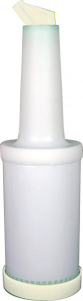 Pour Master 0,95l Flasche komplett, Poly weiß