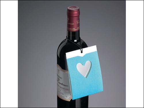 Drop-Card, klein, Herz, hellblau oder rot