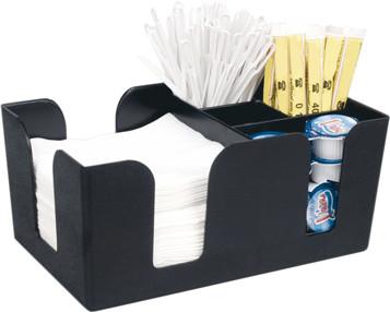 Bar Caddy, Kunststoff schwarz, 6 Fächer,