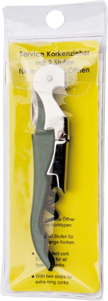 BottleTool Standard Kellnermesser grün, Klarsicht-Hängekarte
