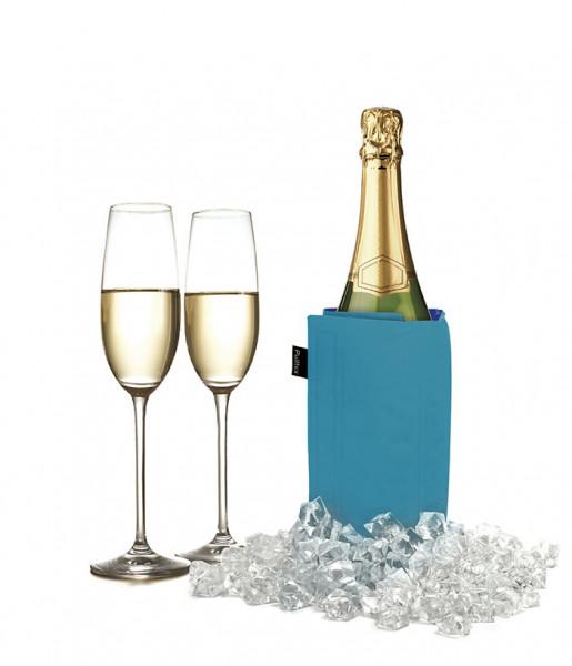 Pulltex Flaschenkühler mit Klettverschluss, blau
