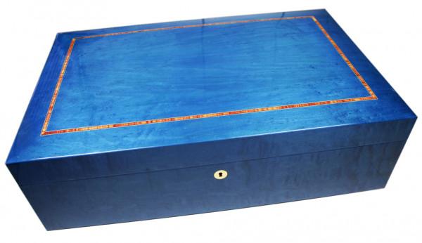 "Humidor ""Präsident"",f. 300 Stk., blau"